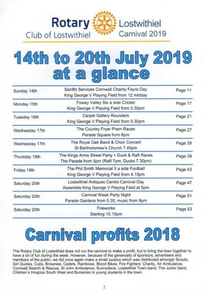 2019 Carnival Programme Page 02