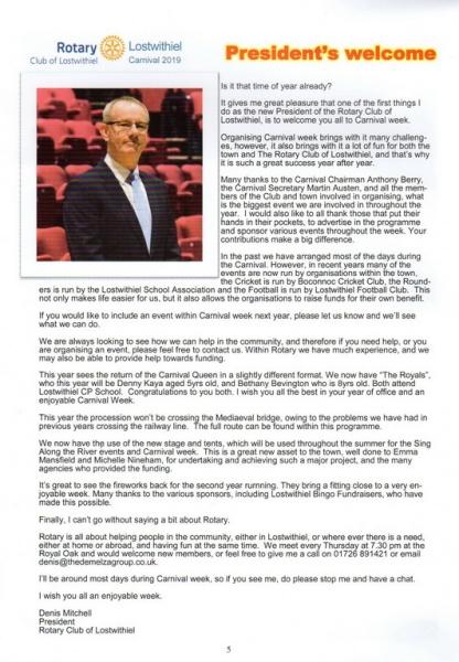 2019 Carnival Programme Page 05