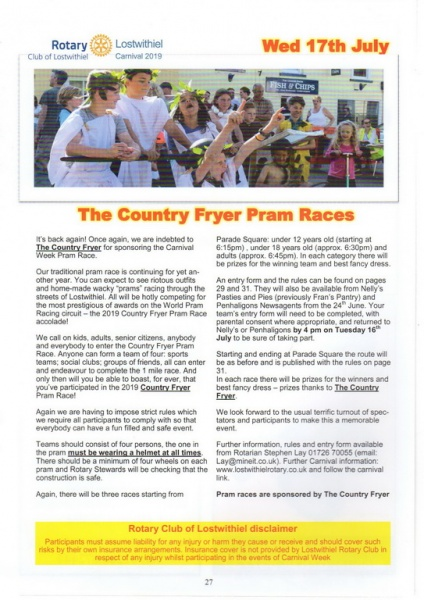 2019 Carnival Programme Page 27