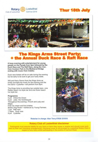 2019 Carnival Programme Page 39