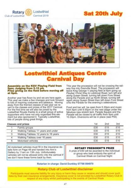 2019 Carnival Programme Page 47