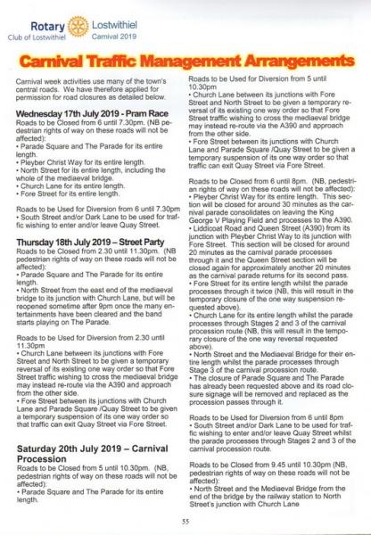 2019 Carnival Programme Page 55