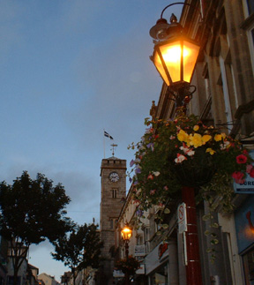 Redruth Town Clock by night