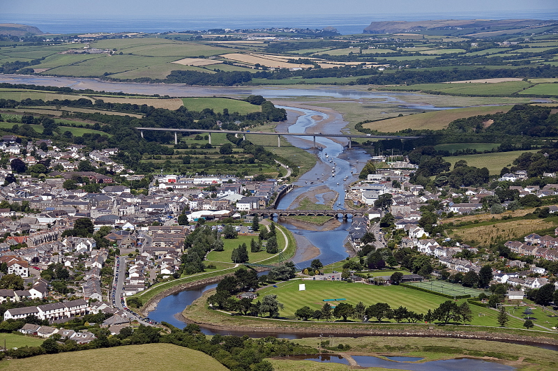 Wadebridge from the air.