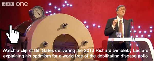 Watch a clip from Bill Gates' Richard Dimbleby Lecture 2013