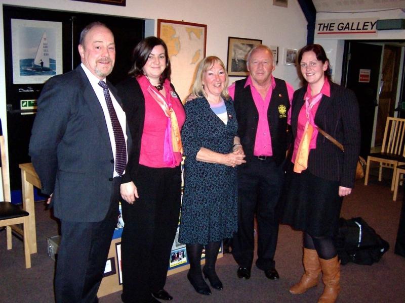 Presentation at Pwllheli Sailing Club