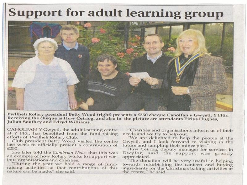 Cambrian News 20 November 2008