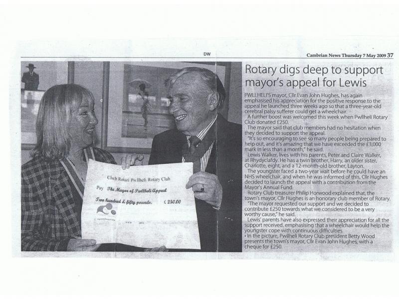 Cambrian News 7 May 2009