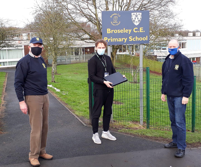 Computers donated to Broseley CofE Primary School