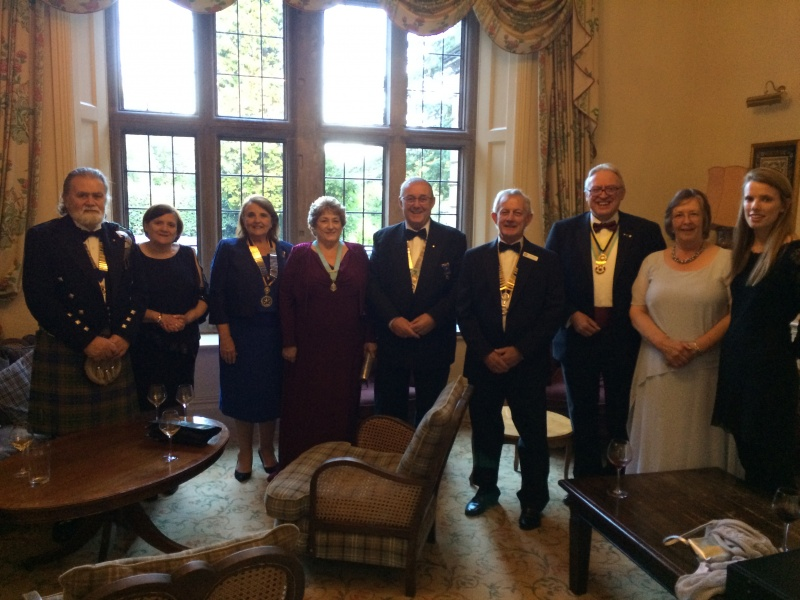 President Brian and top table guests - Charter 2017 - 70 Years old