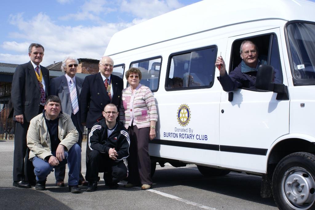 A minibus we donated to Burton CREST