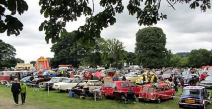 The Ashover car show in full swing