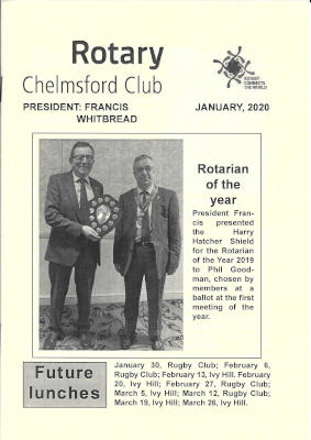 The front cover of a Club Bulletin