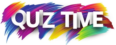 The words Quiz Time over  scriblled multi-coloured background