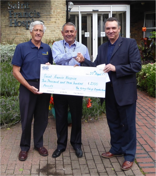 Cheque Presentation to Saint Francis Hospice
