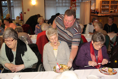 Pe Bernard Organised The Senior Citizens Concert Party With Entertainment From Houghton S Youth Br Band Club Members And Served Teas