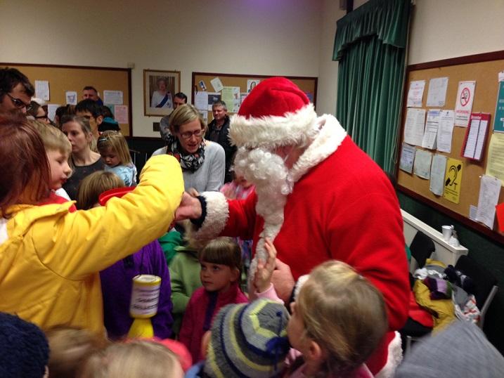 Santa visits Loddiswell Christmas party