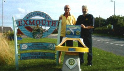 The Wishing Well starts its long journey at the Rotary Club of Exmouth