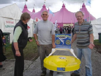 The wishing well's first customers at the Eisteddfod