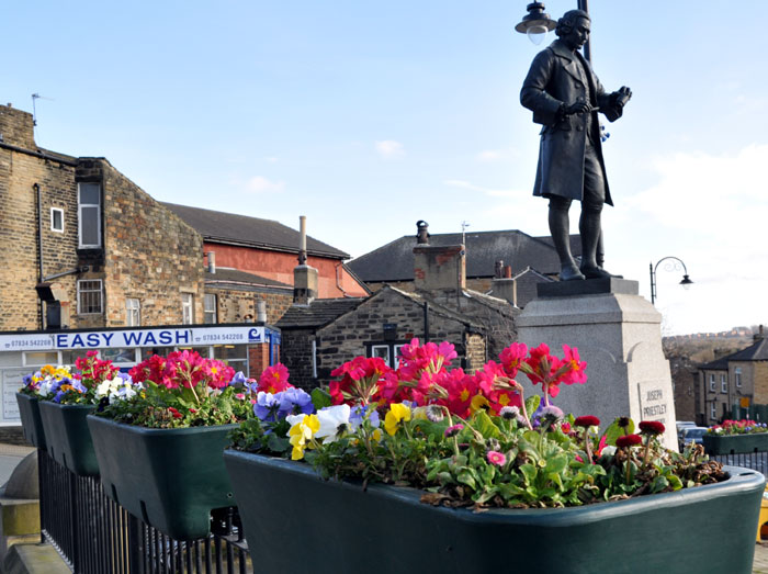 Spring Flowers in Birstall Market place