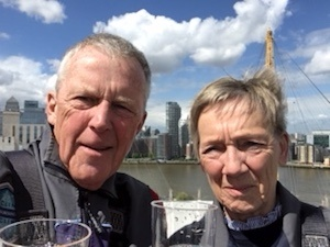 Chris and Sue Porter on top of the O2 Dome