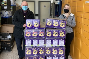 Collecting Easter Eggs from Morrisons for the Swale Foodbank