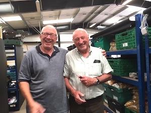 Ian & Chris at Sittingbourne Foodbank