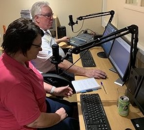 RIBI President Donna Wallbank visits Rotary Radio UK