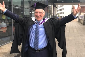 John Fisher on graduation day