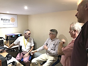 Invicta club members attend Rotary Radio UK open day