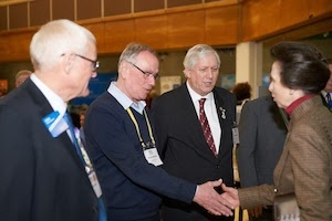 Martin Williams meets HRH Princess Ann at the RIBI Conference in Torquay