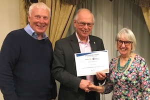 Rotary Citation with Gold Distinction for 2018/19