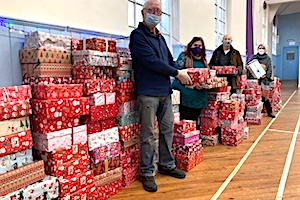 Christmas presents for children at the Swale Foodbank