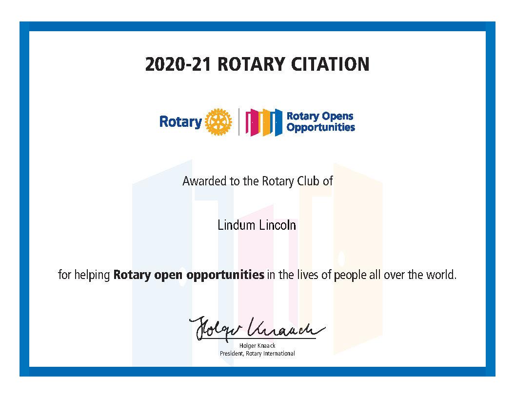 Rotary Citation