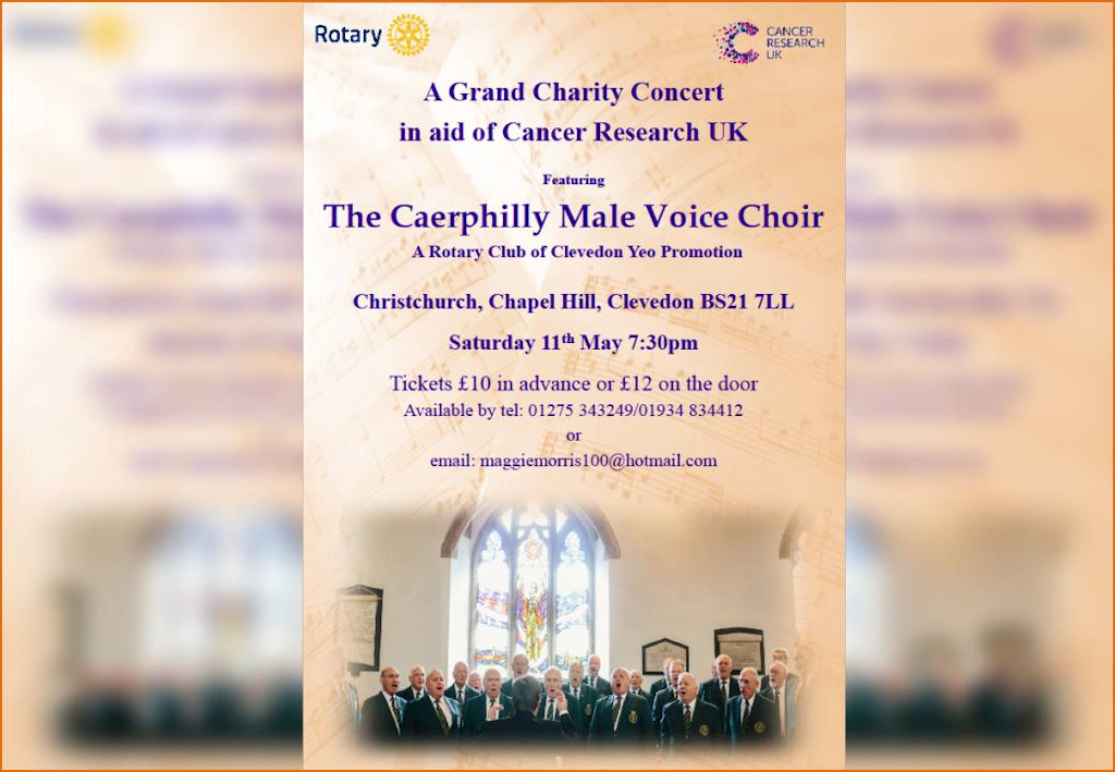 A Grand Concert by Caerphilly Male Voice Choir May 11th 2019 Christchurch Clevedon