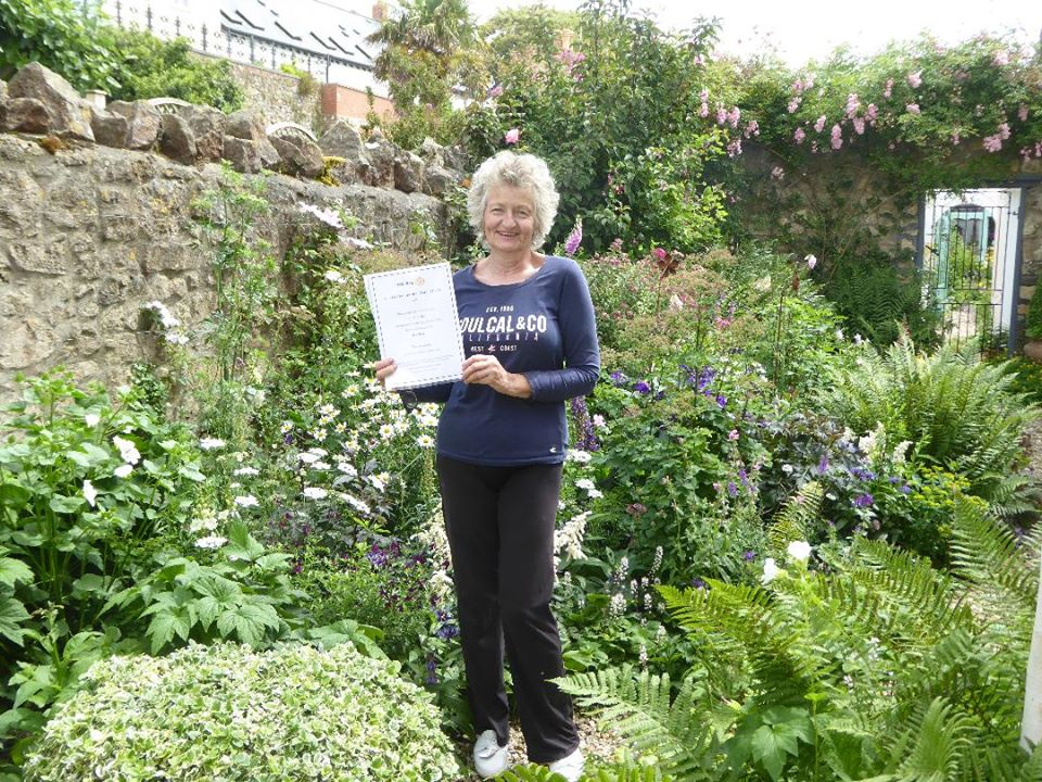 Clevedon Yeo Garden Competition joint winner 2020 Formal Category Rotary Clevedon Yeo activities