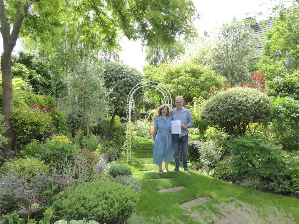 Clevedon Yeo Garden Competition - Formal Garden joint winner 2020