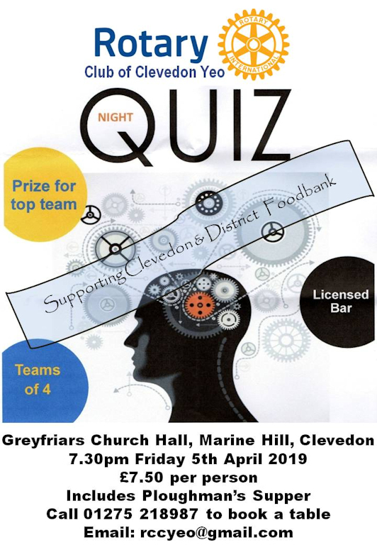 Quiz Greyfriars 5th April 2019