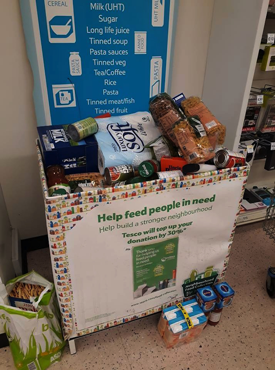 Tesco Foodbank Collection Clevedon
