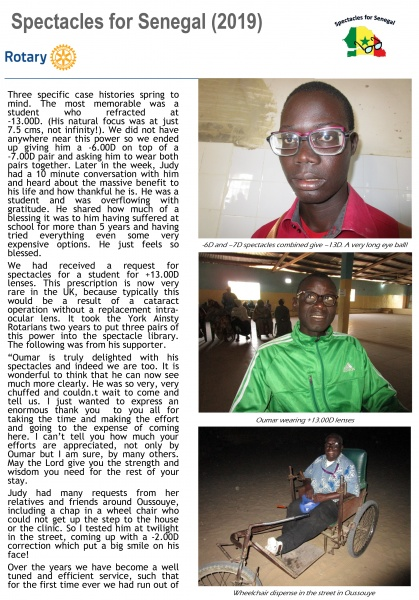 Specs to Senegal - 2