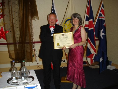 President Wendy Aldred and Immediate Past District Governor David Bennet