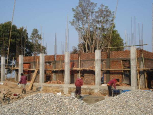 School reconstruction in progress