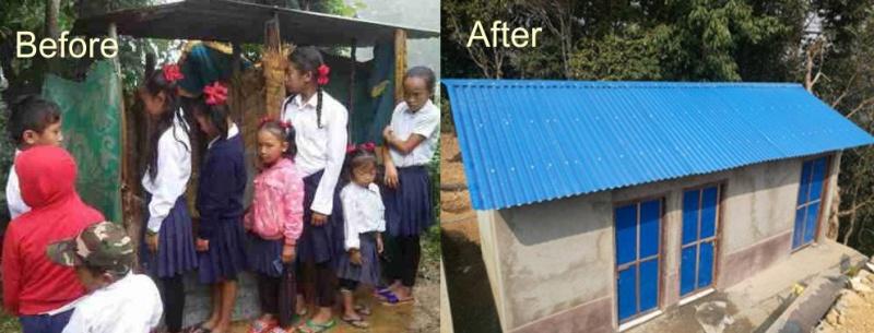 New sanitation facilities at Majkhot Primary School, Nepal