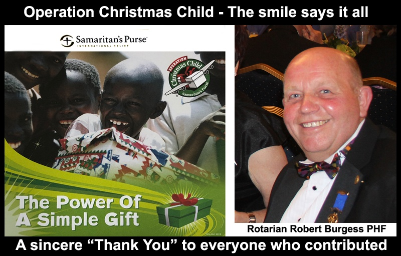 Operation Christmas Child Normanton Rotary