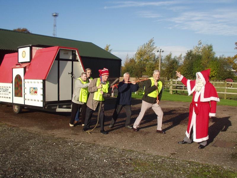Santa's helpers preparing