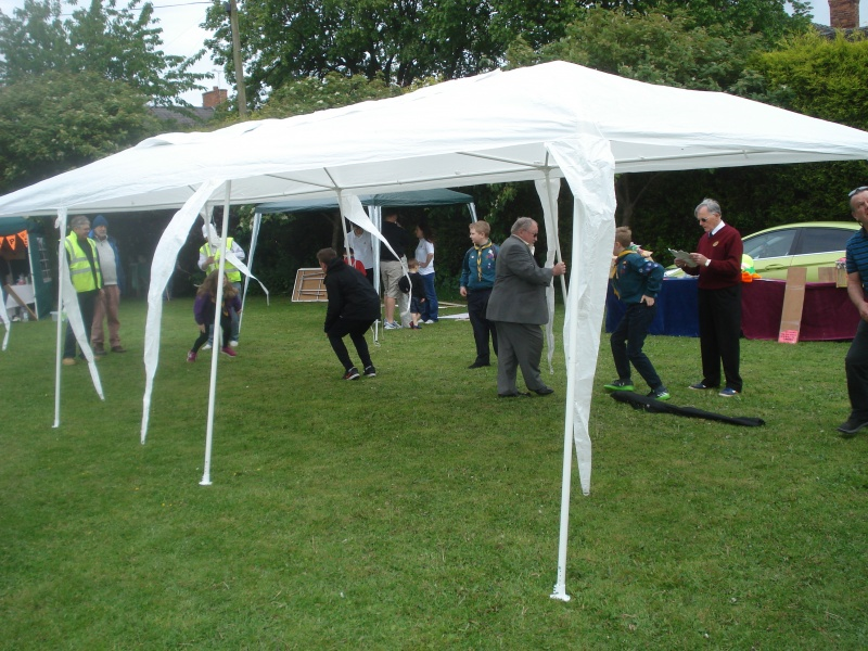 may 20th Haslington -the marquee goes up