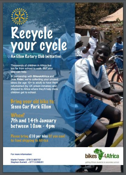 Ellon Rotary Bikes for Africa