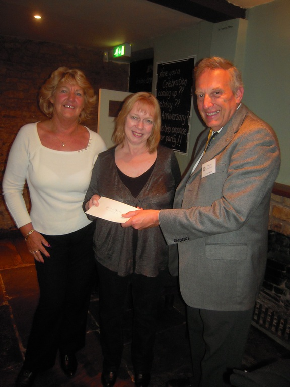 Rotary Club of Shipston on Stour presenting cheque to Specialist Baby Unit, Banbury