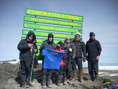 Kirkcaldy Rotarians at the summit of Mt Kilimanjaro