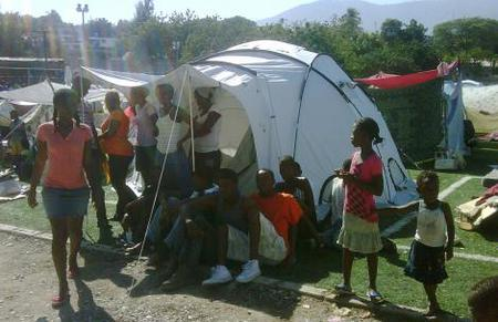 A ShelterBox Tent in Haiti